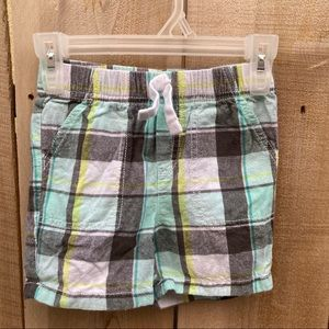 Jumping beans size 3T plaid shorts